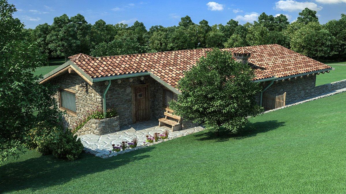 Studio sagitair architettura interior design render for Esterno di case di campagna francesi