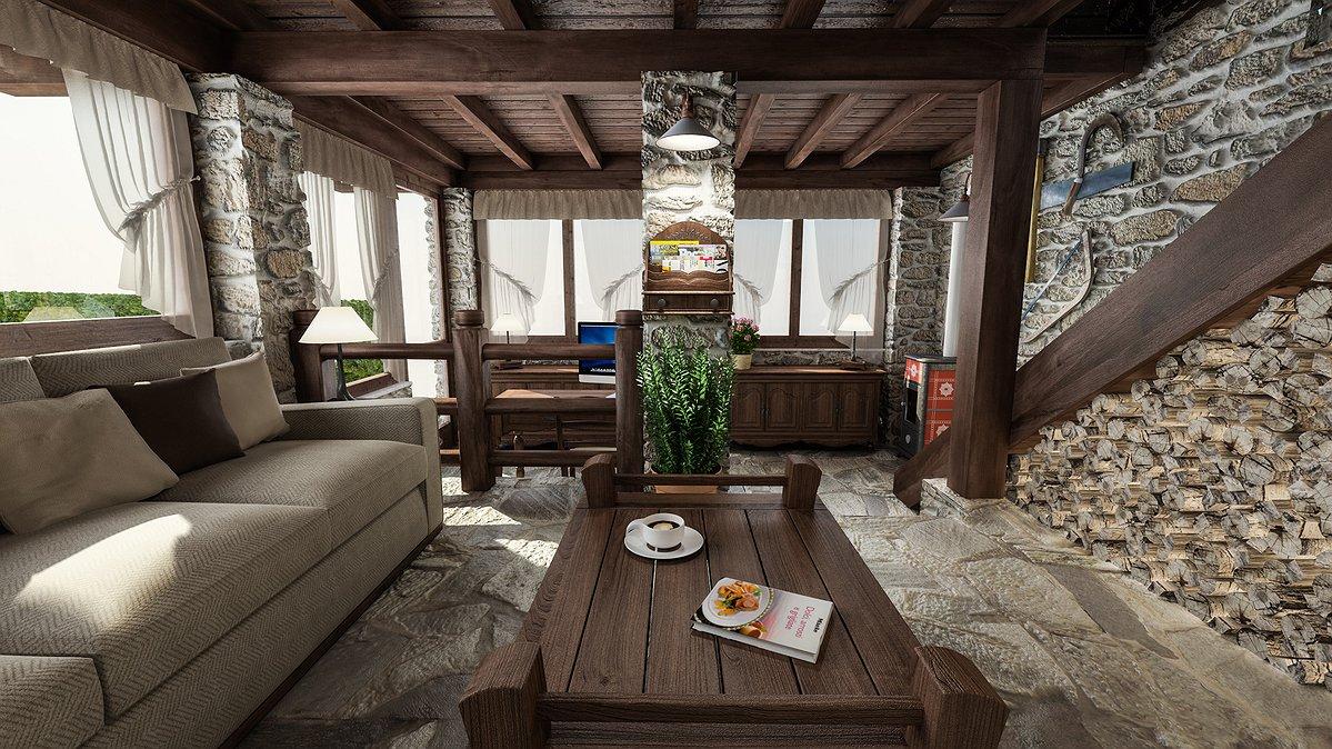 Studio sagitair architettura interior design render for Progetto casa interni