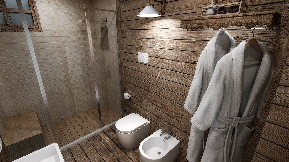 Studio sagitair architettura interior design render for Arredamento chalet legno