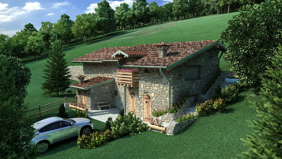 Studio sagitair architettura interior design render for Piani di casa in stile baita di montagna