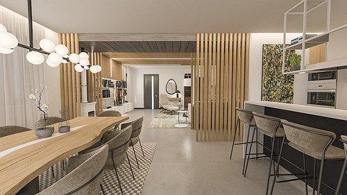 Progetto Villetta a Schiera in Stile Moderno