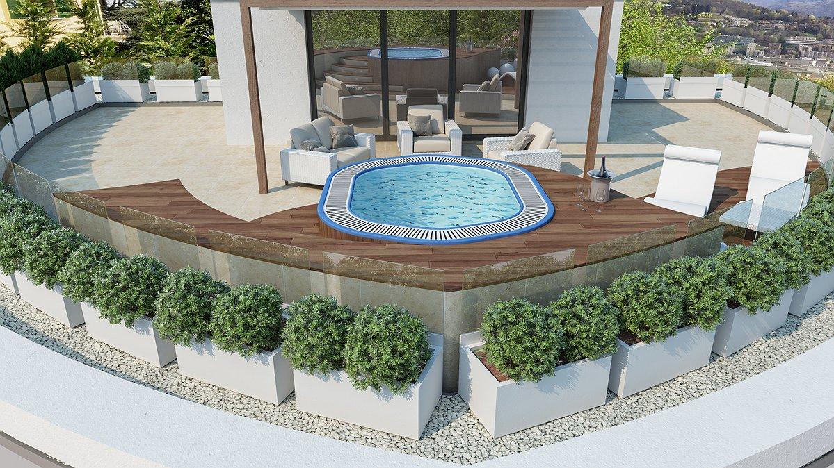 Awesome Piscina In Terrazza Ideas - House Design Ideas 2018 - gunsho.us