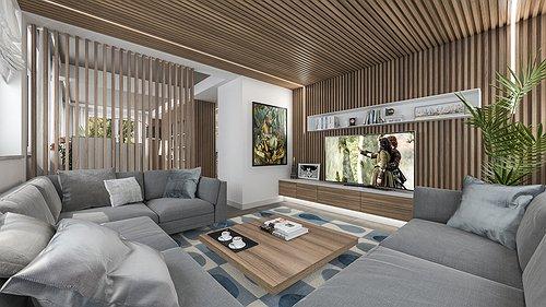 Interni Villa in Stile Elegante Moderno
